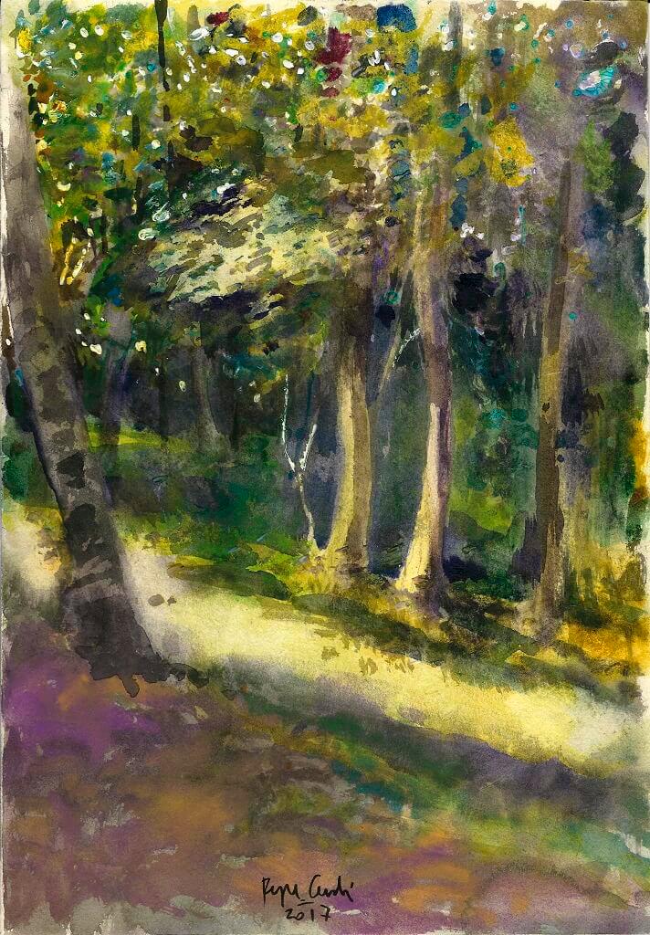 Pepe Cerdá (Pintura de bosque de Borce)
