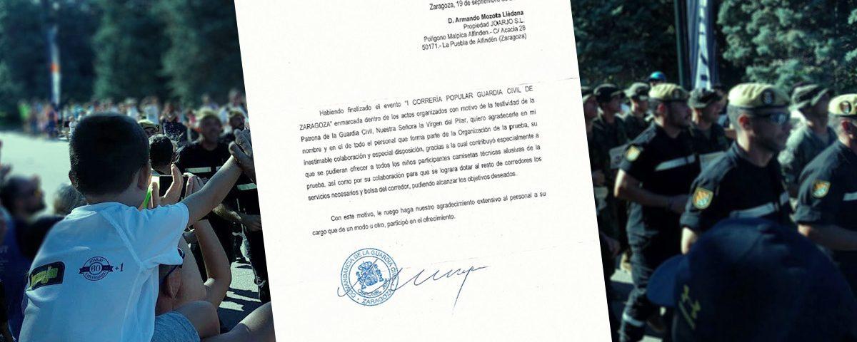 Carta agradecimiento Guardia Civil