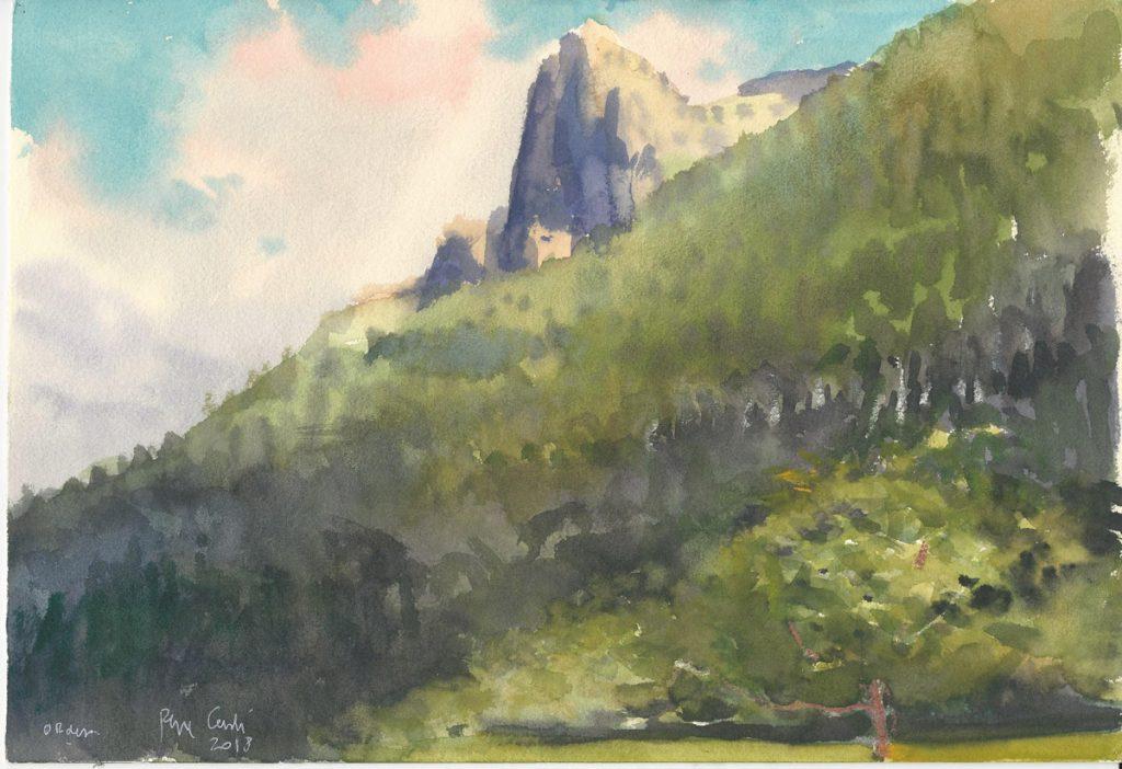 Pintura del Valle de Ordesa (Pepe Cerdá)