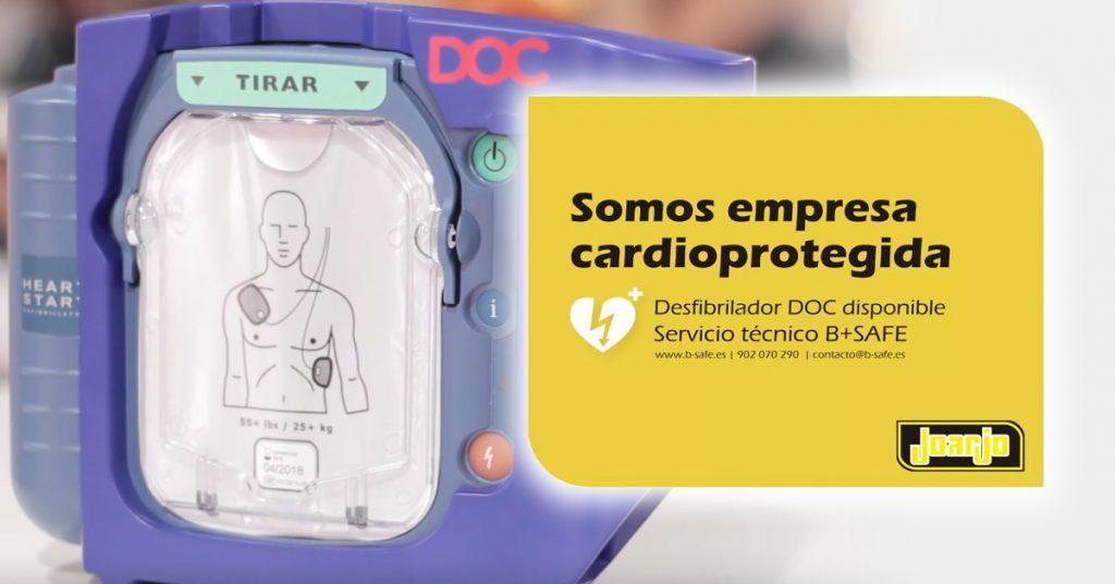 Empresa cardioprotegida con desfibrilador DOC.