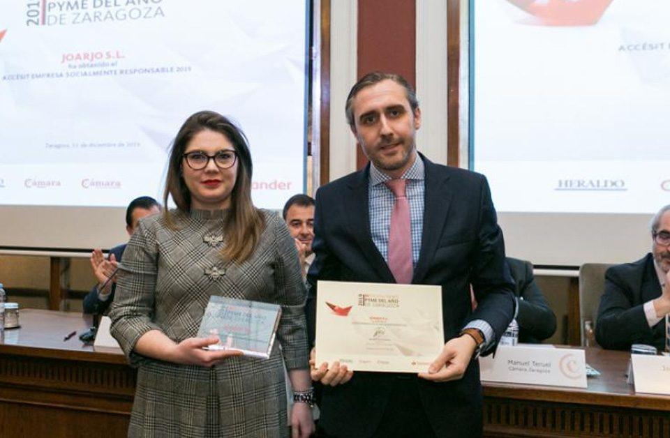Isabel Mozota (Joarjo) recibe Accésit en el Premio Pyme Año Zaragoza 2019