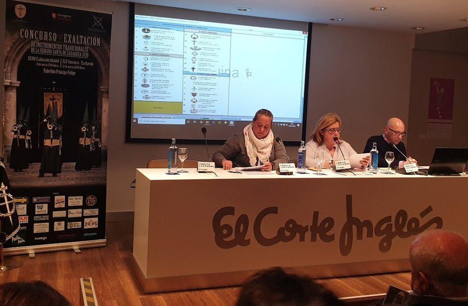 Sorteo del Concurso Exaltación Cofradías Semana Santa Zaragoza 2020