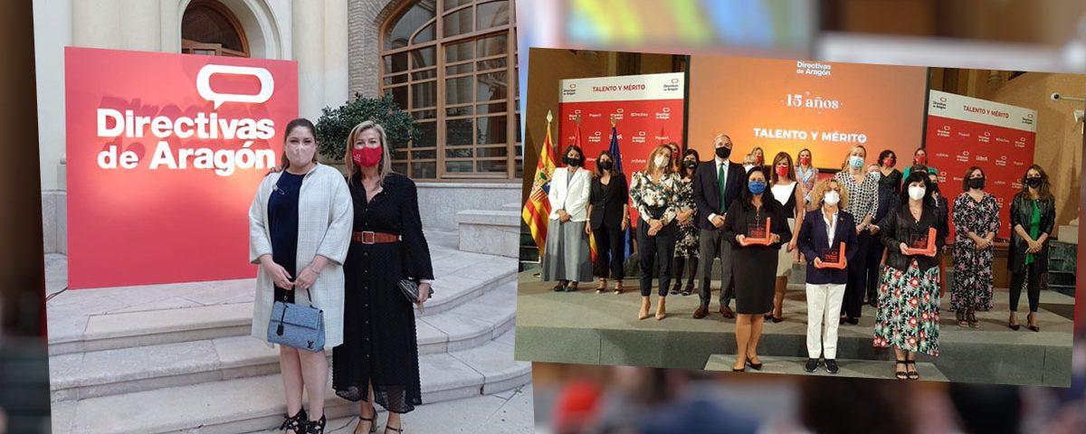 Isabel Mozota en los Premios Directivas de Aragón 2021